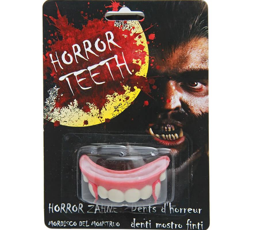 Vampire dents Deluxe avec box et Haftcreme Dracula Vampire dentier