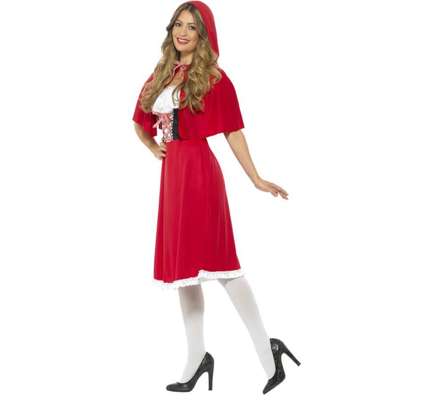 Disfraz De Caperucita Roja Largo Para Mujer