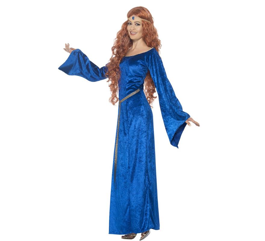 Vestido medieval azul