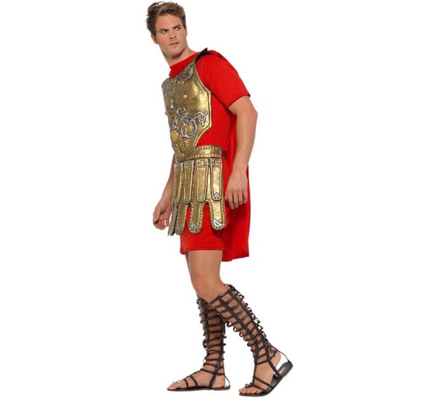 Romano Dorado Rojo Disfraz Para Y Hombre De Gladiador lJ1cTFK