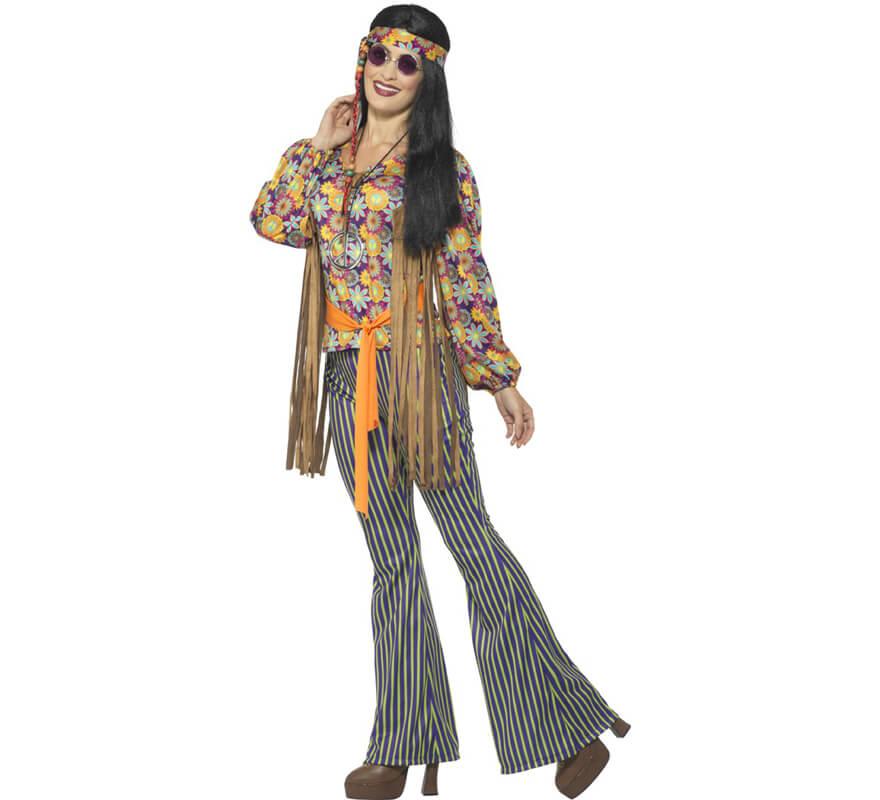 Donne Adulti Bionda Anni /'60 70 Potere Dei Fiori Hippie Hippy Parrucca Costume