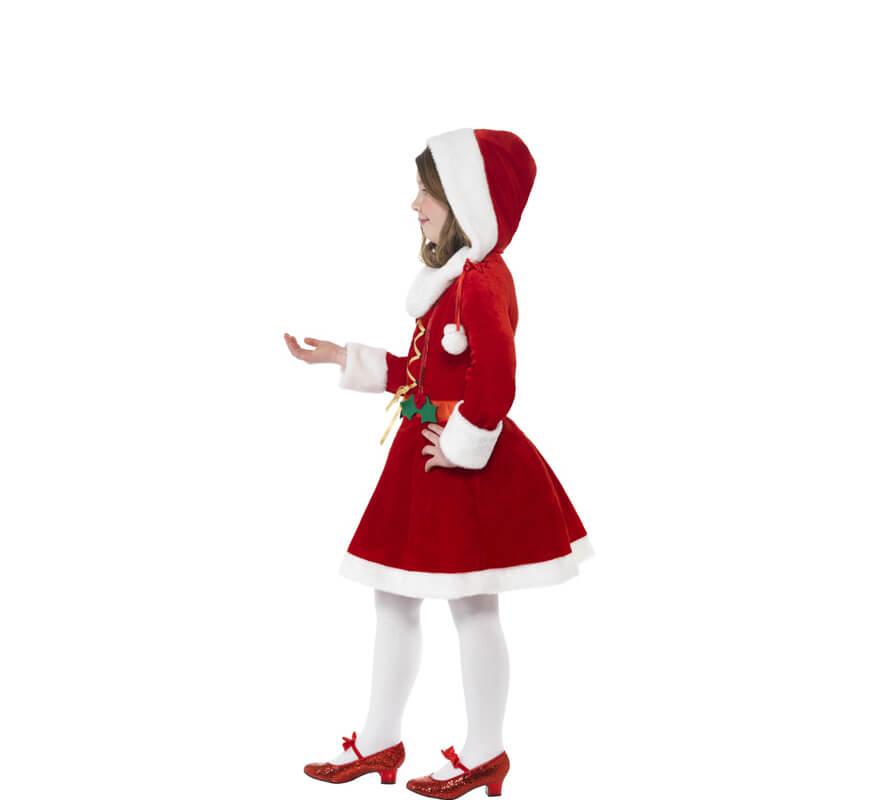 Disfraz De Mamá Noel Con Acebo Para Niña