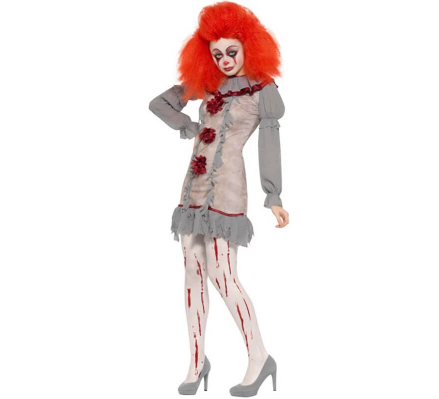 Halloween Donne//Ragazze Bianco Insanguinato calza ideale per macchiato sangue Costume