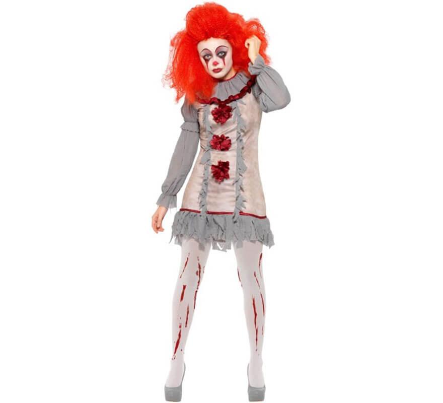Peluca Dama Zombie largo Gris//Verde Para Adulto Halloween Disfraz
