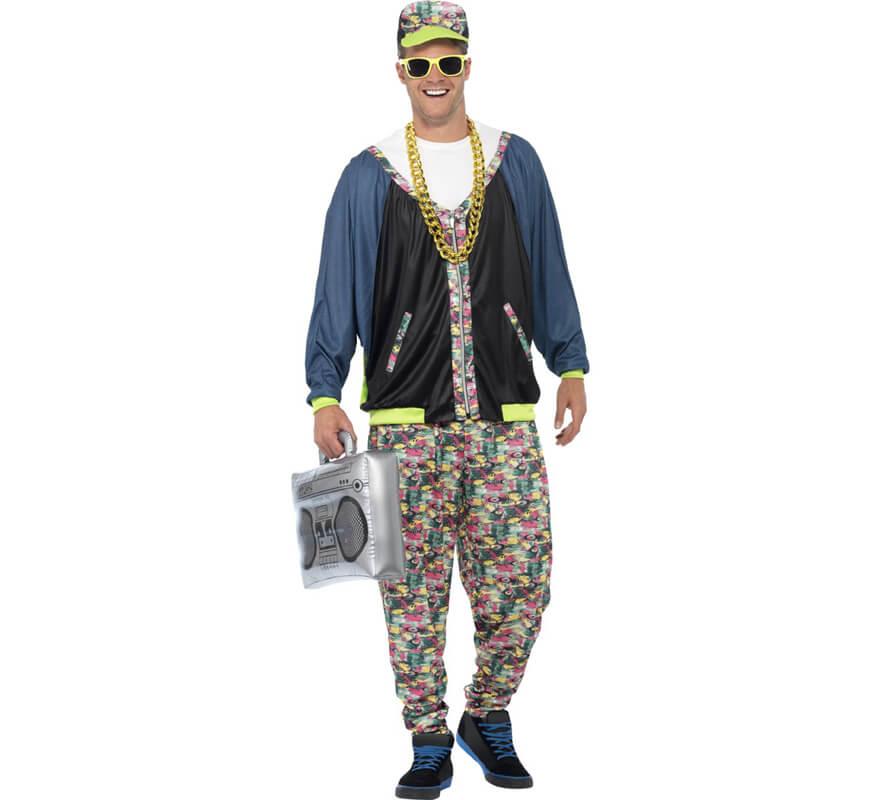 8321d7cefbbe7 Disfraz de Rapero años 80 para hombre-1