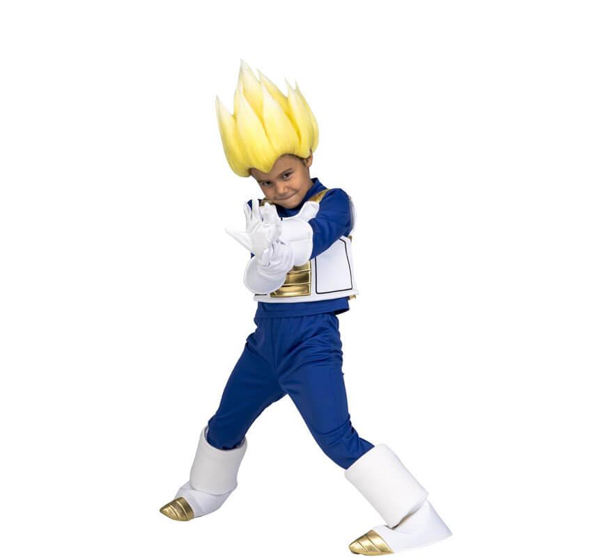 Disfraz de Saiyan Vegeta de Dragon Ball con peluca para niño-2 d7edb3fd4fbc