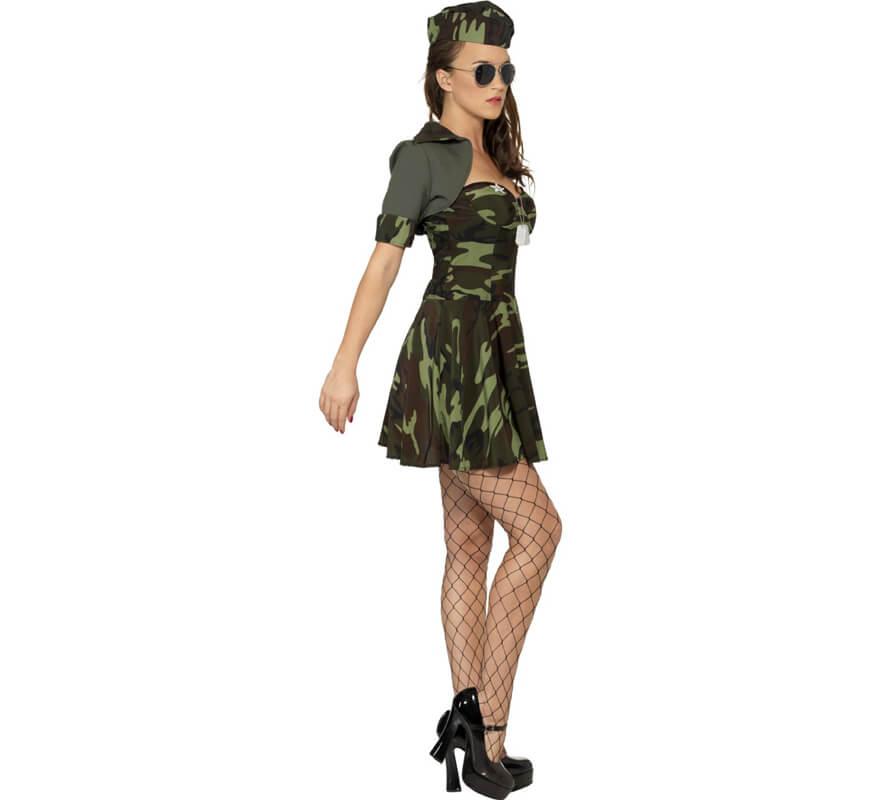 Disfraz de Soldado Camuflaje para mujer-0 1330e7b029d