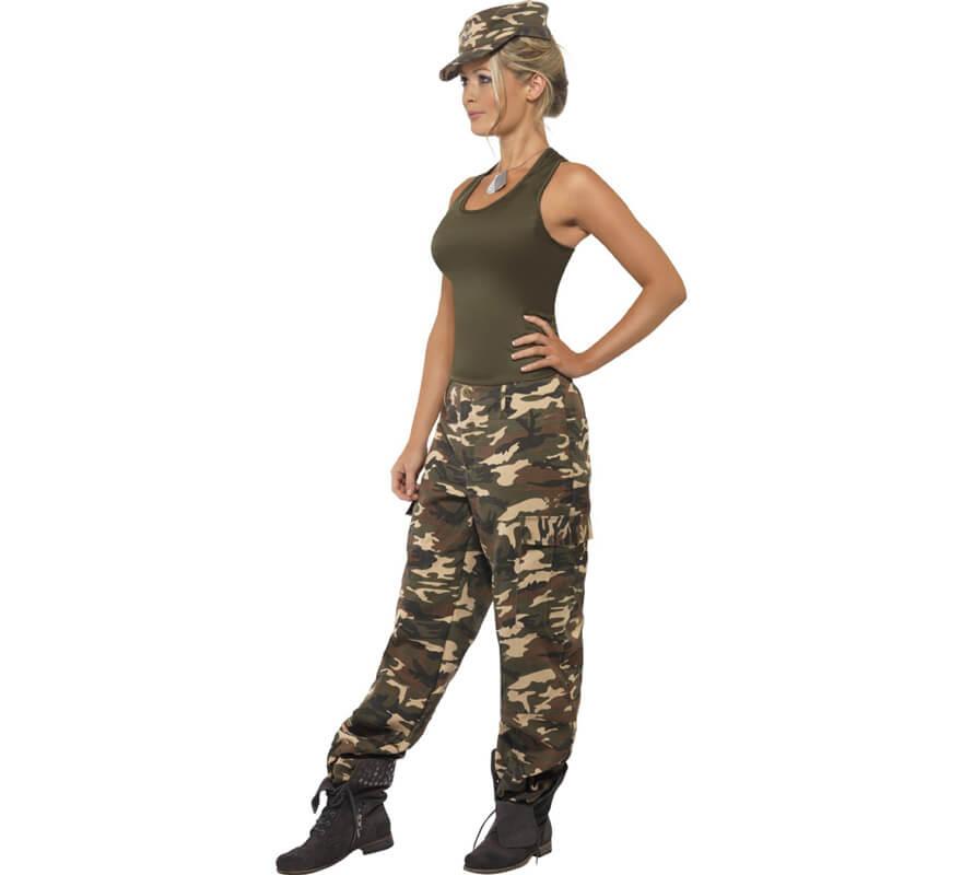 Disfraz de Soldado de Camuflaje para Mujer-0 99053601345