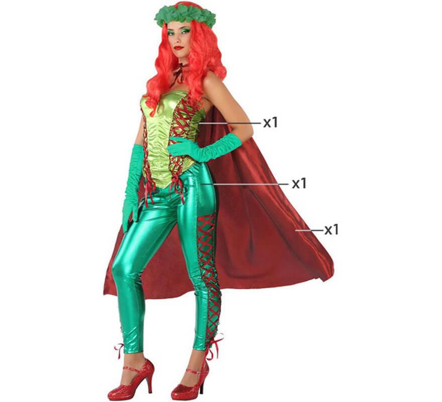 Donna Rosso Super Eroe Costume