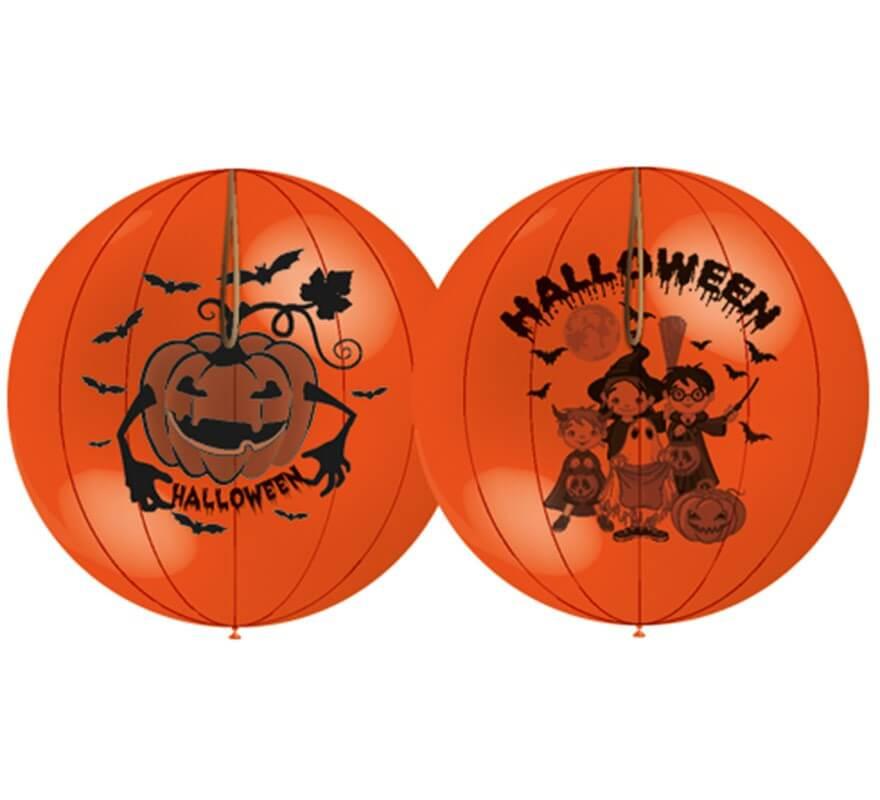 Bolsa de 50 globos Punch Ball de Halloween de 140 cm