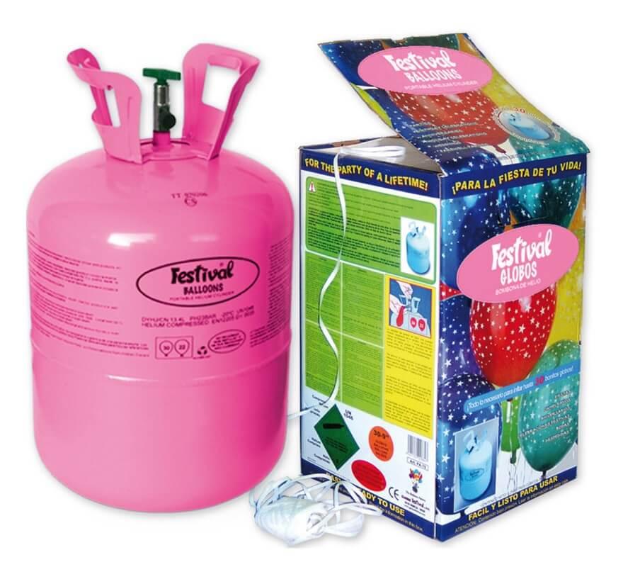 Bombona de helio de 0 25 m3 para llenar 30 globos - Llenar globos con helio ...