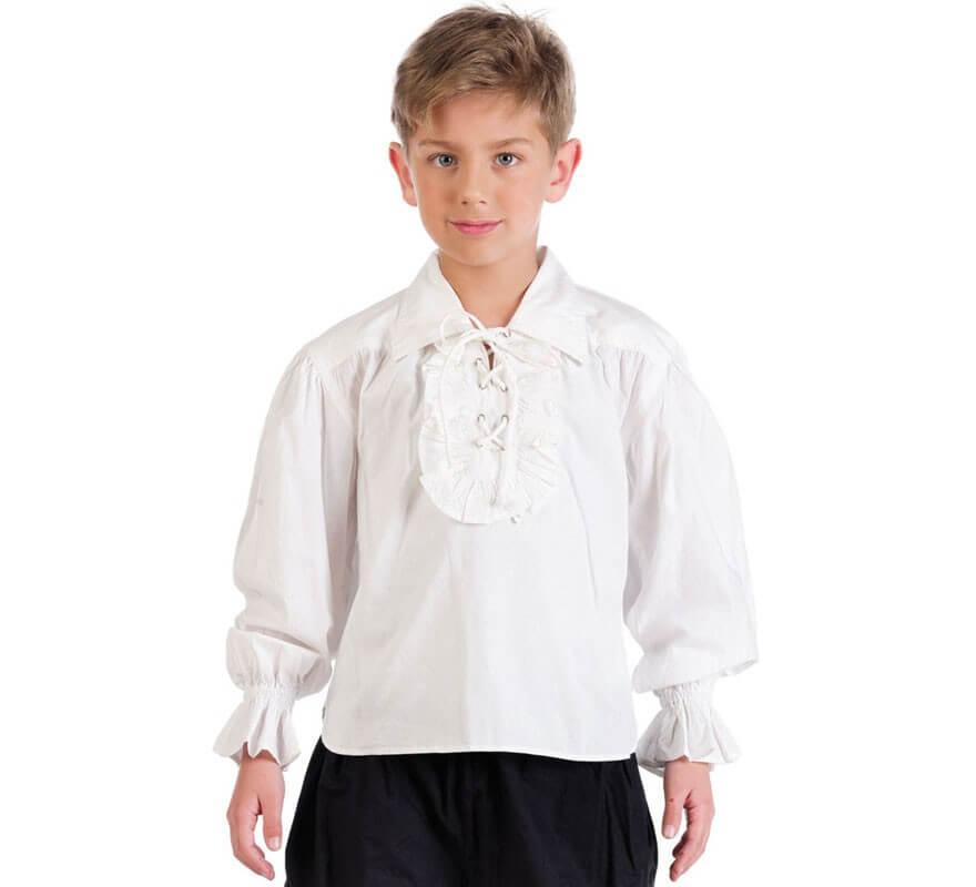 48c31c3127eb4 Chemise Blanche avec volants pour enfant