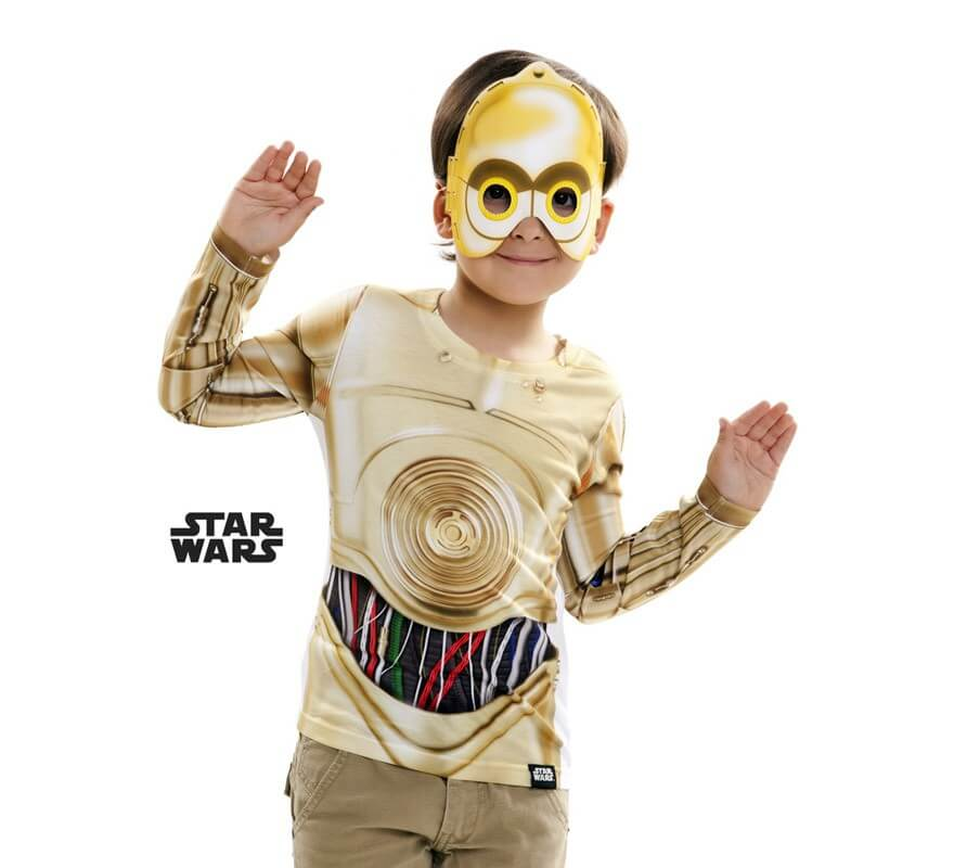 t shirt d guisement de c 3po pour enfants star wars. Black Bedroom Furniture Sets. Home Design Ideas