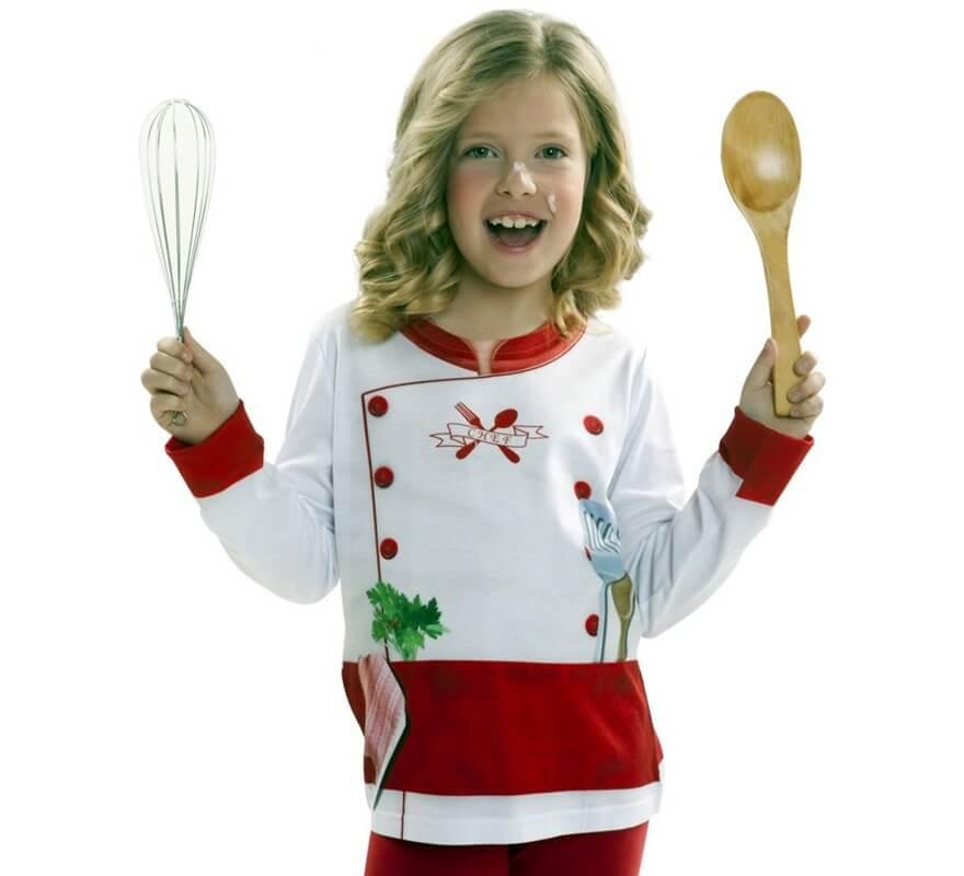 Camiseta disfraz cocinero o cocinera para ni os for Material para chef