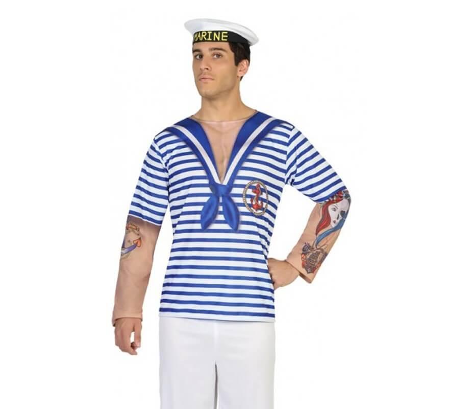 Camiseta disfraz de Marinero para hombre 2122915663976