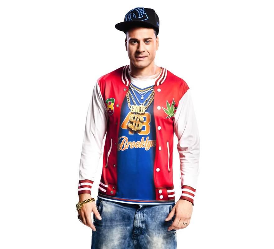 c9e0d97875154 Camiseta disfraz de rapero para Hombre