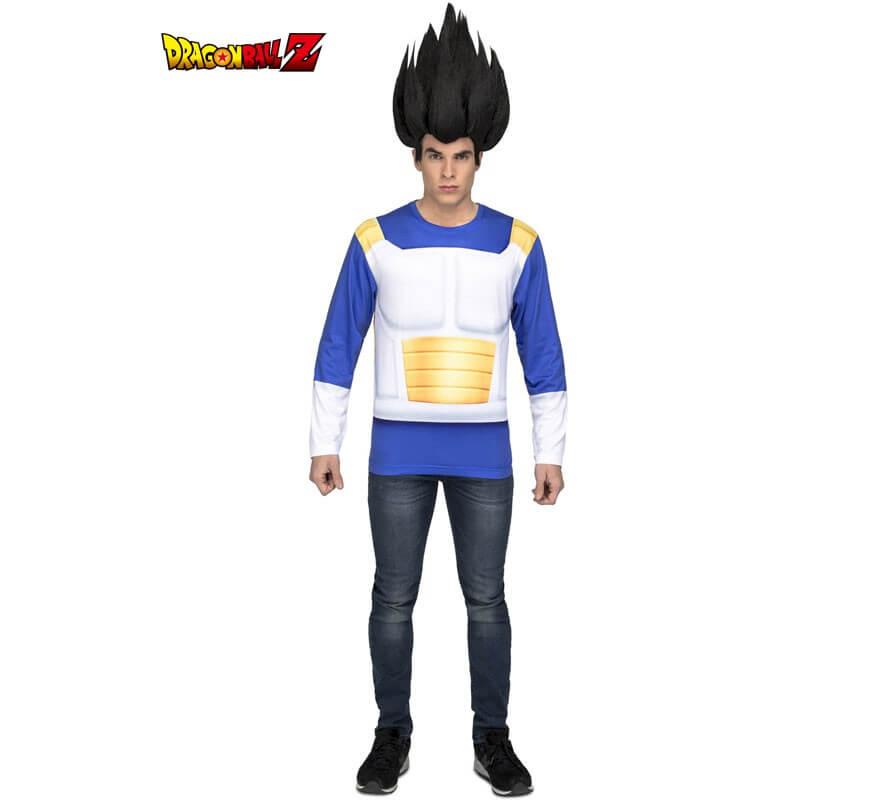 Camiseta Disfraz de Vegeta de Dragon Ball para hombre