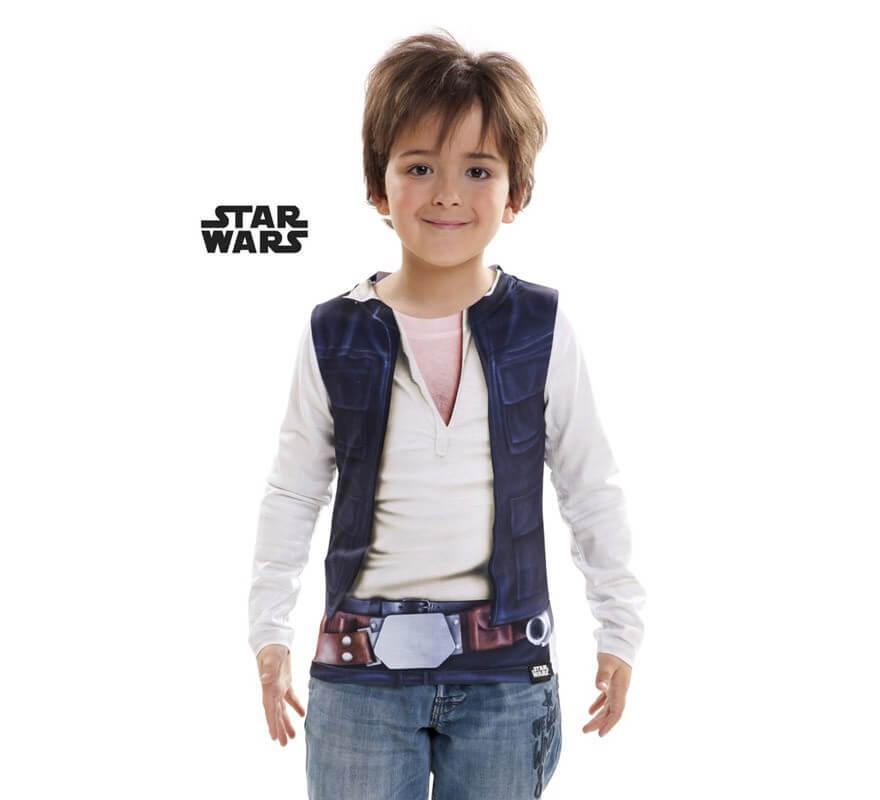mejor venta venta oficial calidad superior Camiseta disfraz Han Solo de Star Wars para niño