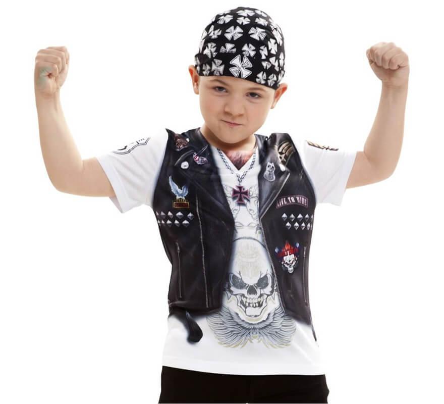 7ea85f9be Camiseta disfraz Motero para niño