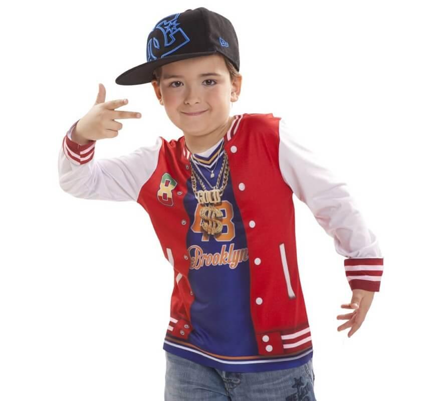 precio inmejorable pensamientos sobre auténtica venta caliente Camiseta disfraz Rapero para niño