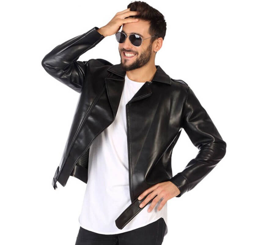 4 fotos una palabra una chaqueta negra