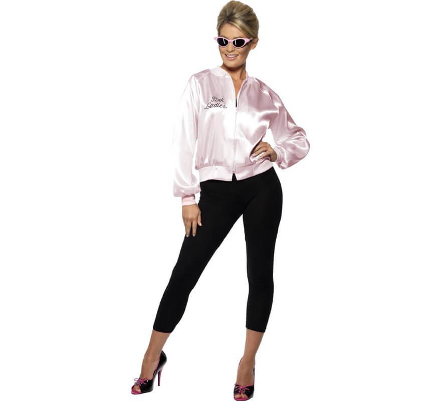 Chaqueta Pink Lady de Grease con logo bordado mujer