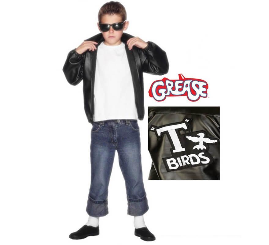 detallado buena reputación primera vista Chaqueta T-Birds de Grease con logo para niño