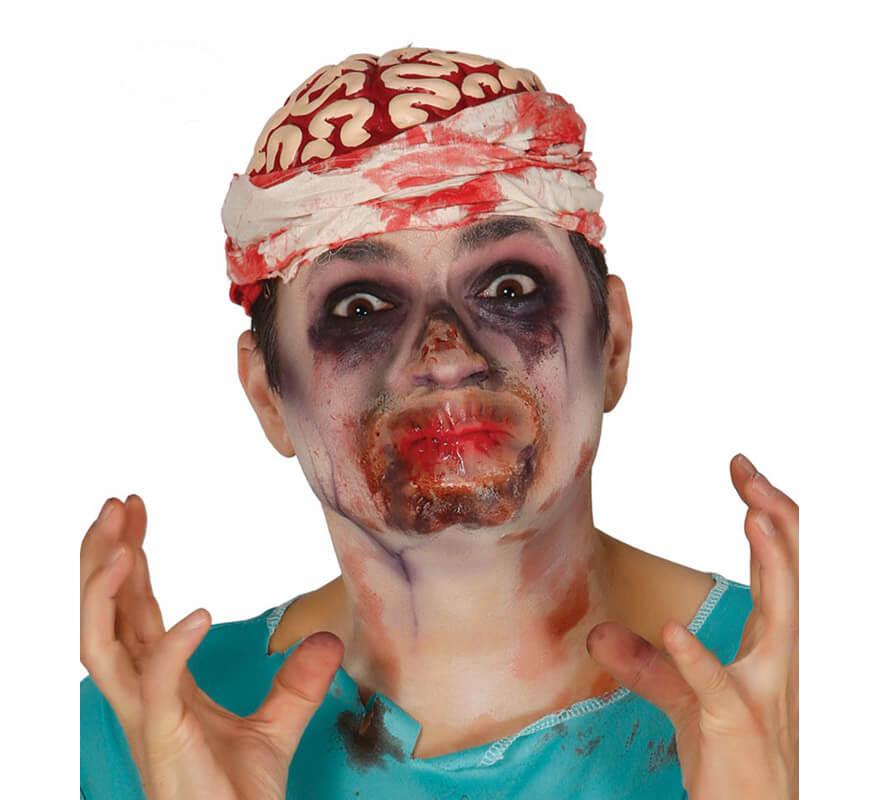 Maquillage cornes mal fiques fx en latex pour halloween - Maquillage latex halloween ...