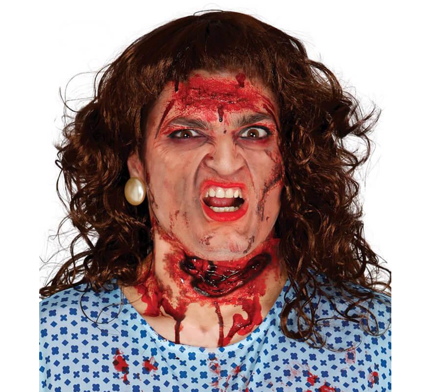 Cicatriz de garganta cortada - Como maquillarse de zombie ...