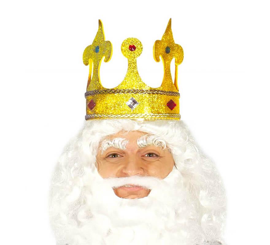 Corona de Rey Mago de color oro