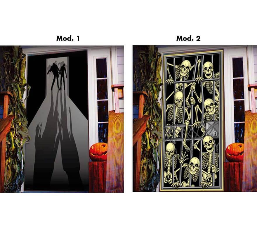 Decoraci n para puerta de 152x76 cm en 2 modelos for Decoracion de puertas de dia de muertos