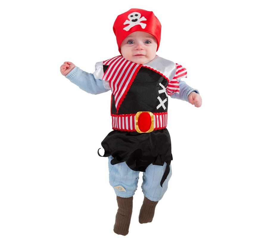 Disfraz o babero de pirata para beb s de 6 meses - Disfrazes de bebes ...