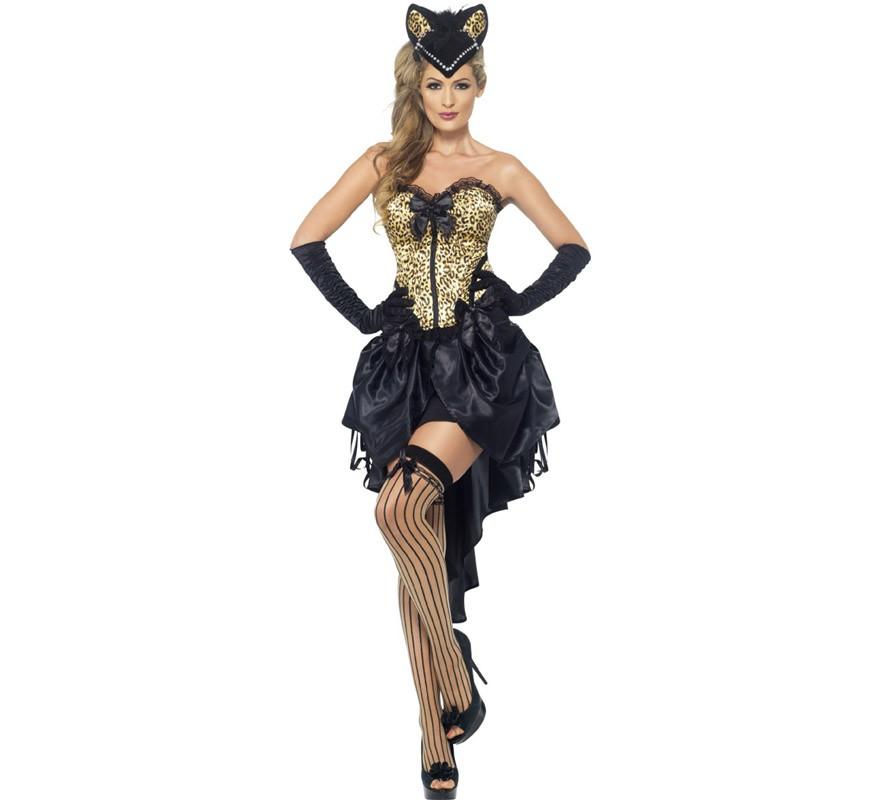 Disfraz Burlesque Gatita Para Mujer - Disfraz-de-gata-para-halloween