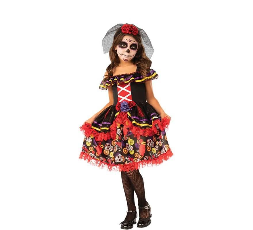 Disfraz Catrinita Elegante Para Niña
