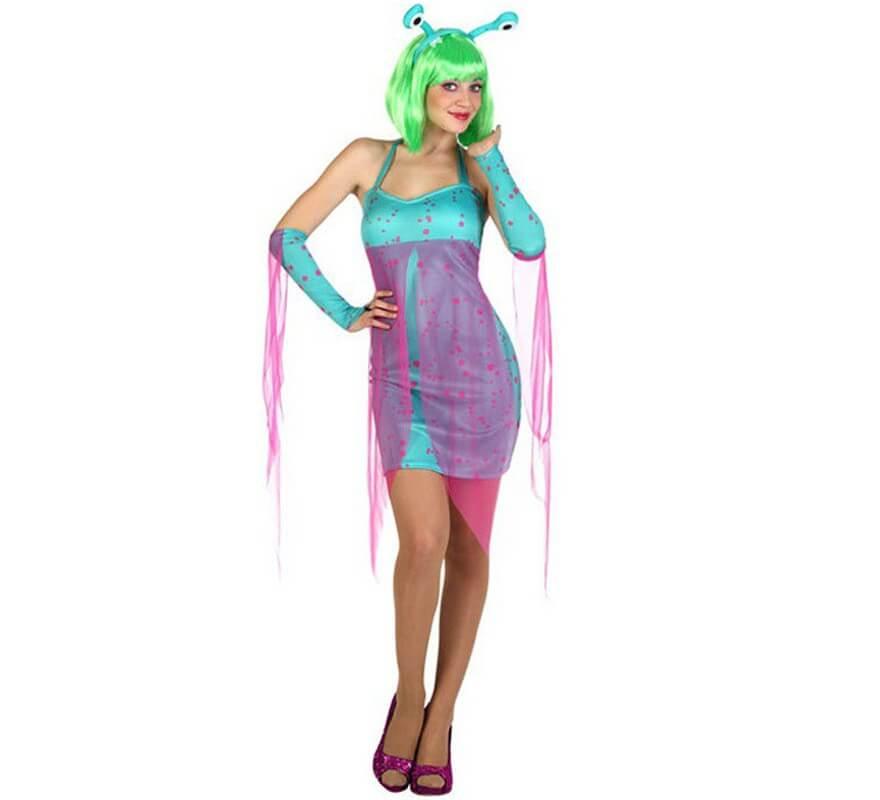 mujer para alienígena Disfraz múltiple de tallas azules sexy A4rl3j5q wOPk8n0