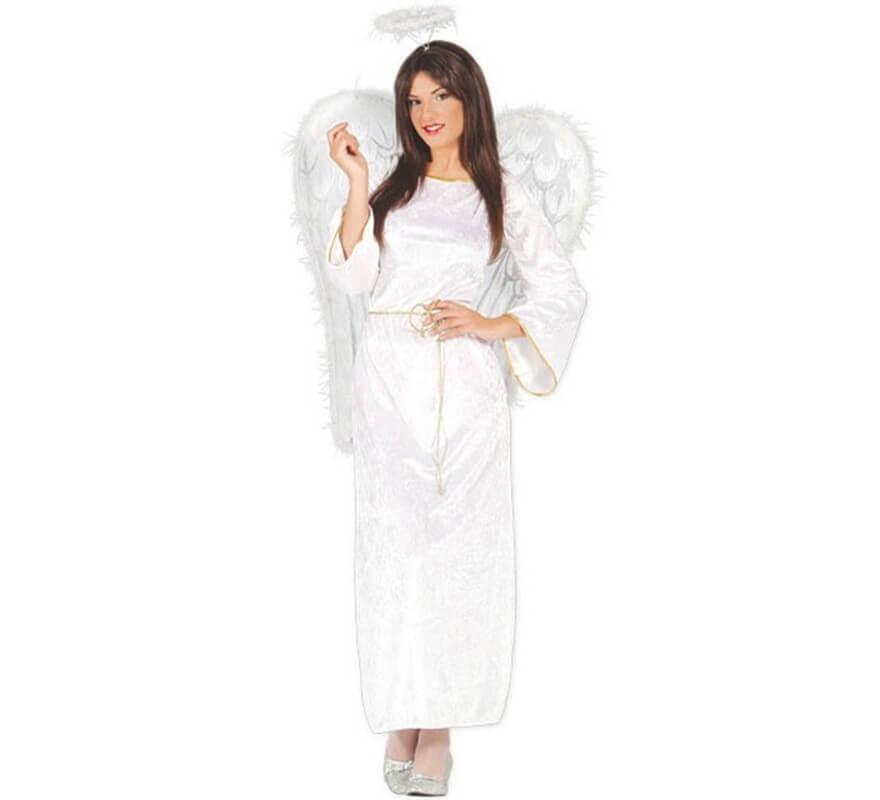 Disfraz de ngel blanco de terciopelo para mujer - Disfraces de angel para nina ...