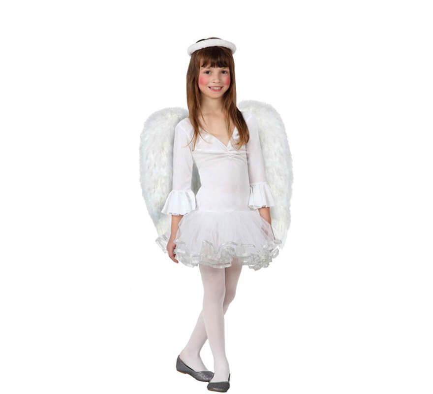 Disfraz de ngel blanco para nias