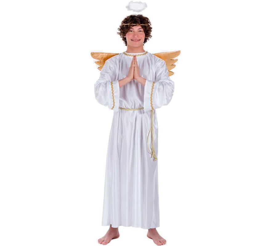 Bambino Deluxe Angelo Costume Ragazze Costume ali aureola Natale Natività Giocare