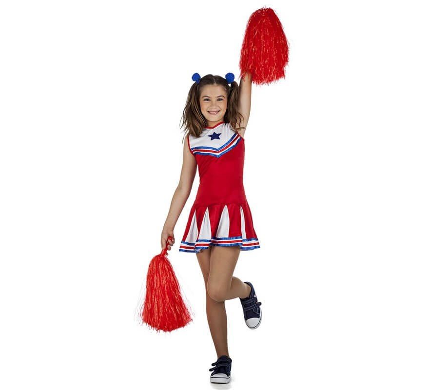 116c4f392 Disfraz de Animadora o Cheerleader para niña