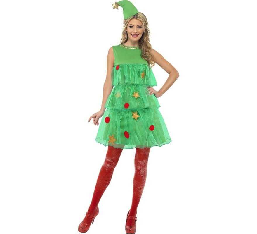 disfraz de rbol de navidad con tut de mujer