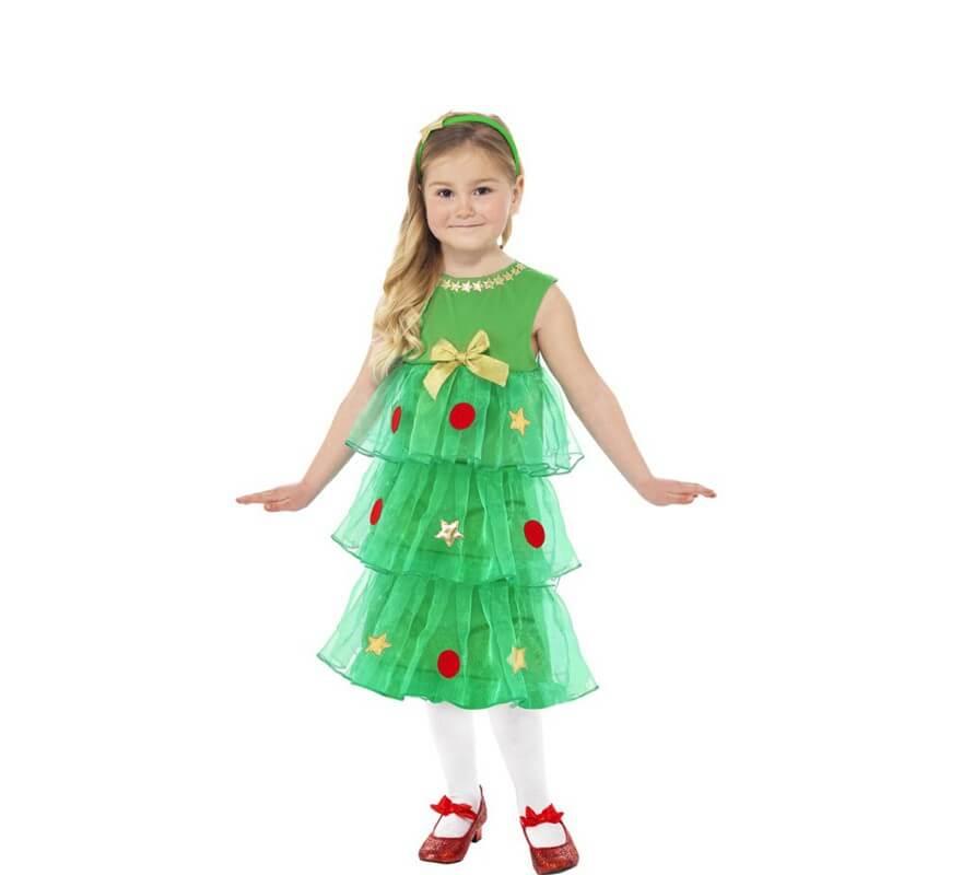 Disfraz de rbol de navidad con tut para ni a - Disfraces para navidad ninos ...