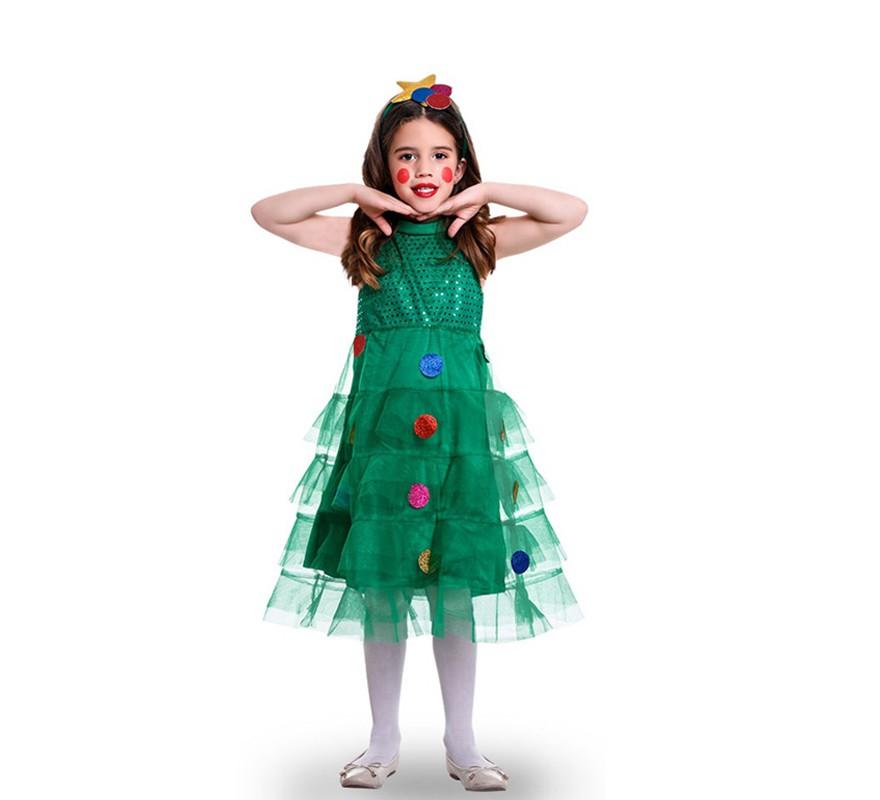 Disfraz de arbol navide o tules para ni a - Disfraz navideno nina ...
