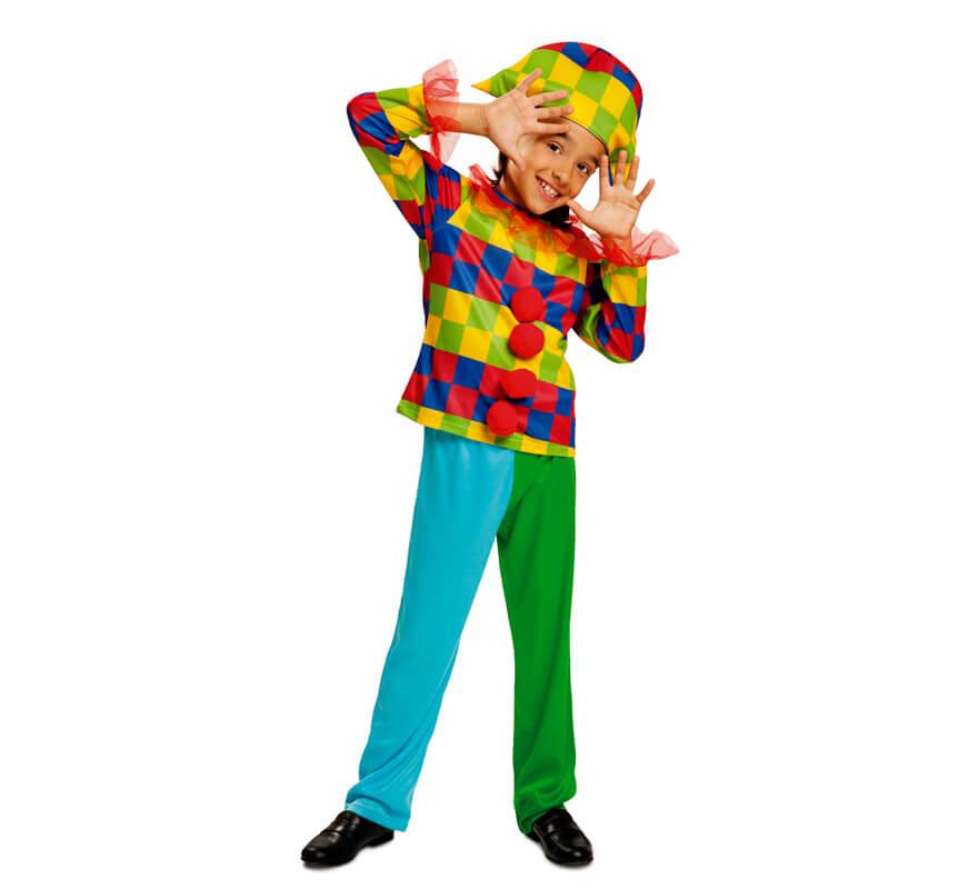 Disfraz de arlequ n multicolor para ni o - Disfraces de pina para ninos ...