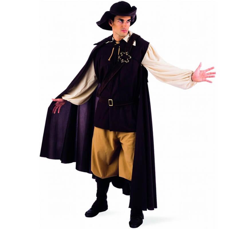 Adulto Uomo Cavalier French Moschettiere Costume Barba Baffi Barba