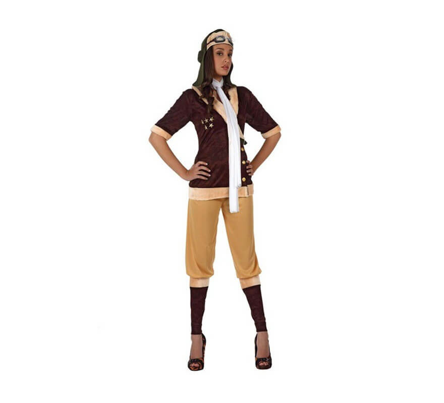 Disfraz de aviadora de poca para mujer for Disfraces de epoca
