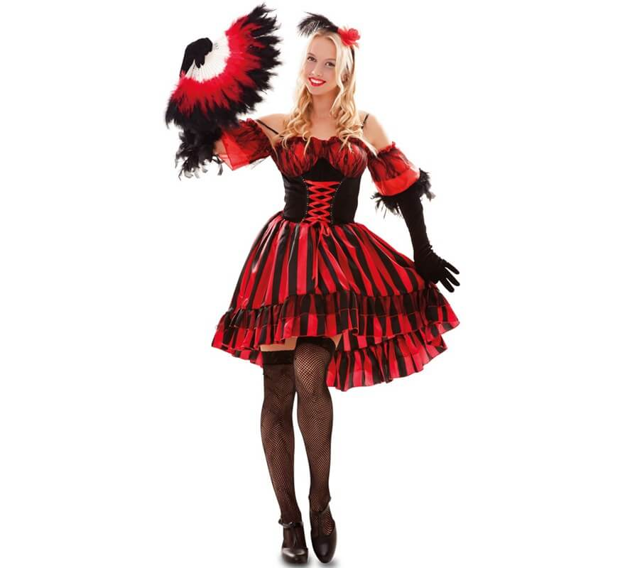 3b301f820 Disfraz de Bailarina de Can can para mujer