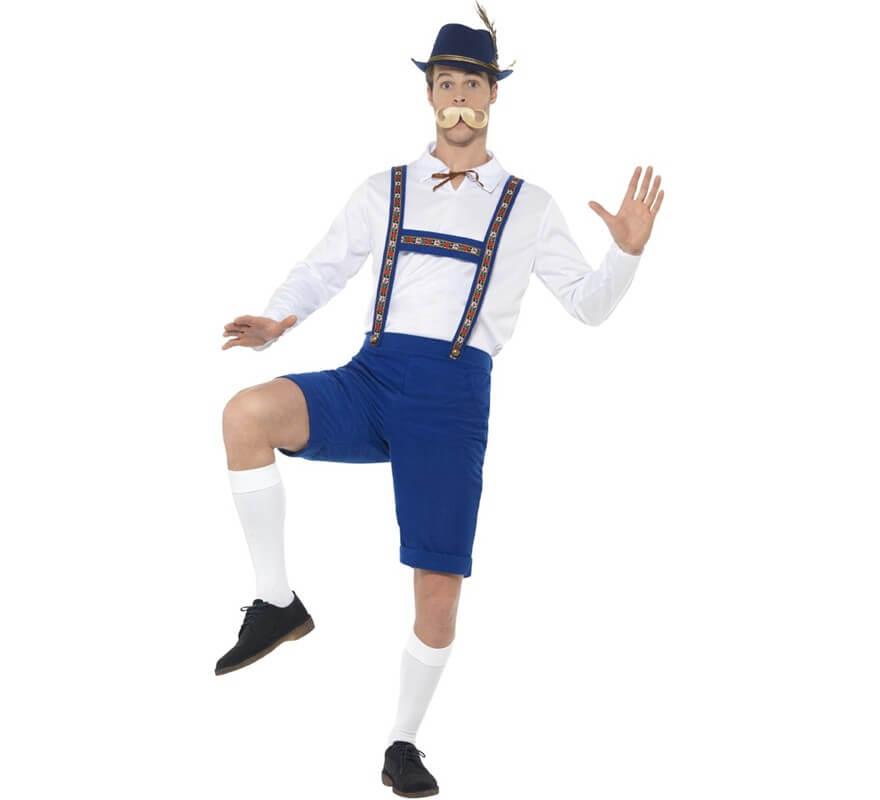 Disfraz de Bávaro Azul y Blanco para hombre df3b70c0deb9