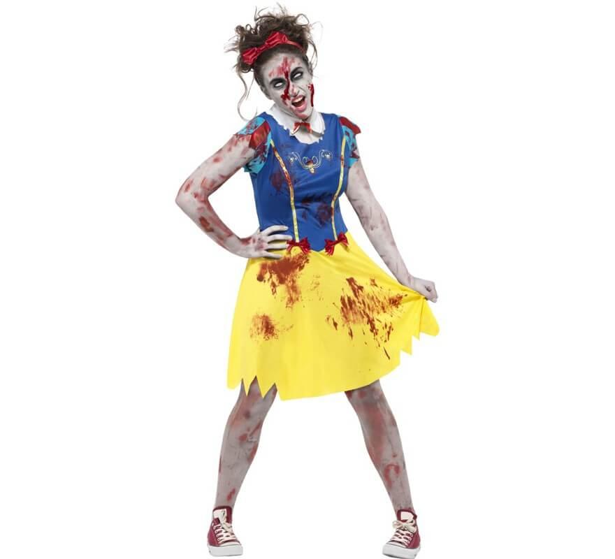 Disfraz de blancanieves zombie para mujer - Blanche neige halloween ...
