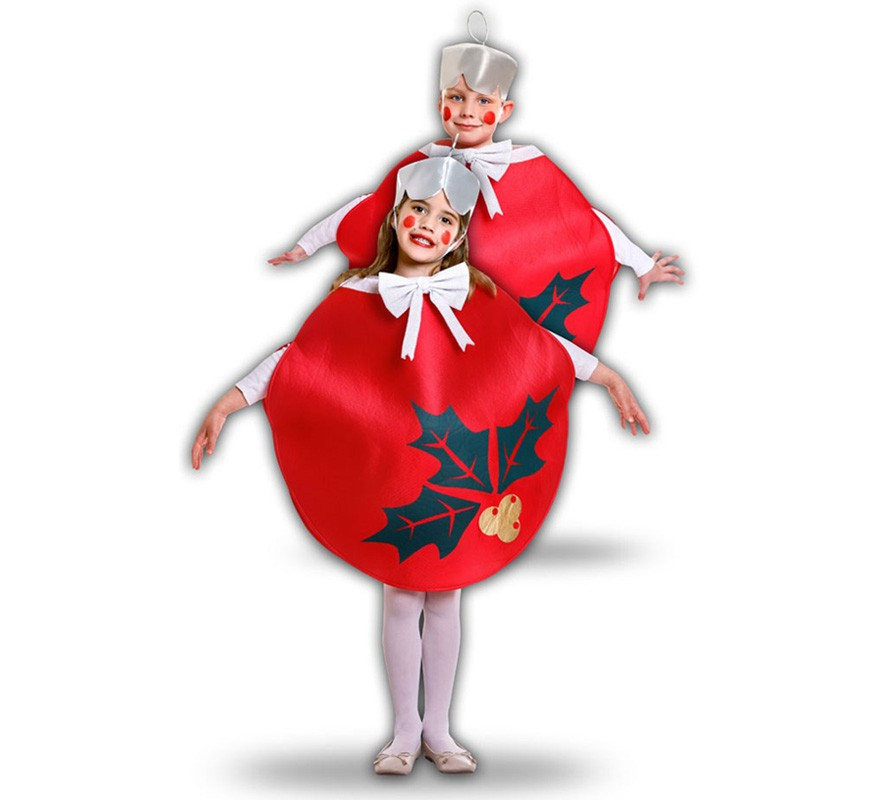 Disfraz de bola de navidad roja para ni os - Bolas de navidad para ninos ...