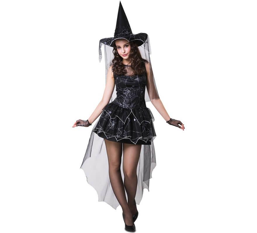 9b77c1f80 Disfraz de Bruja con Telaraña para mujer